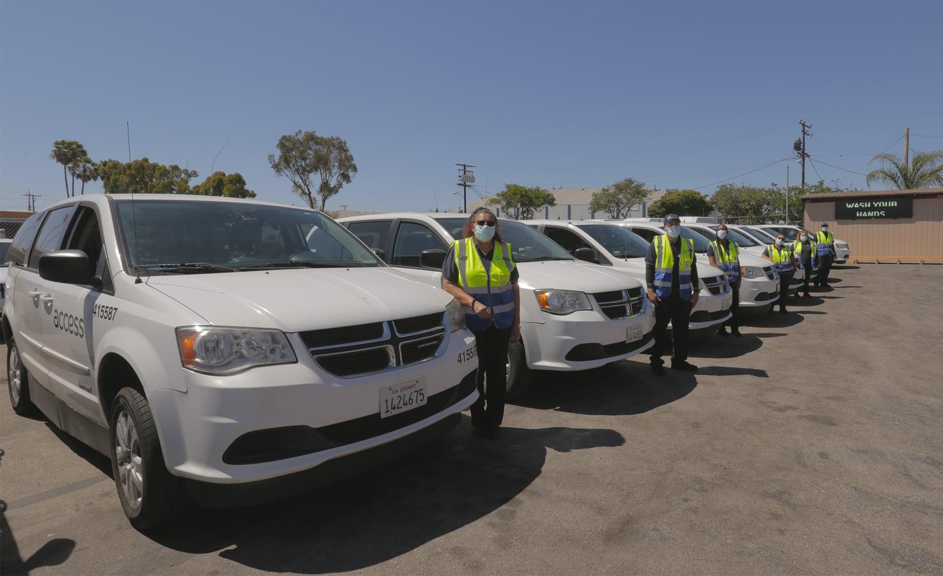 Global Paratransit Drivers Vehicles Parking Lot Global Paratransit